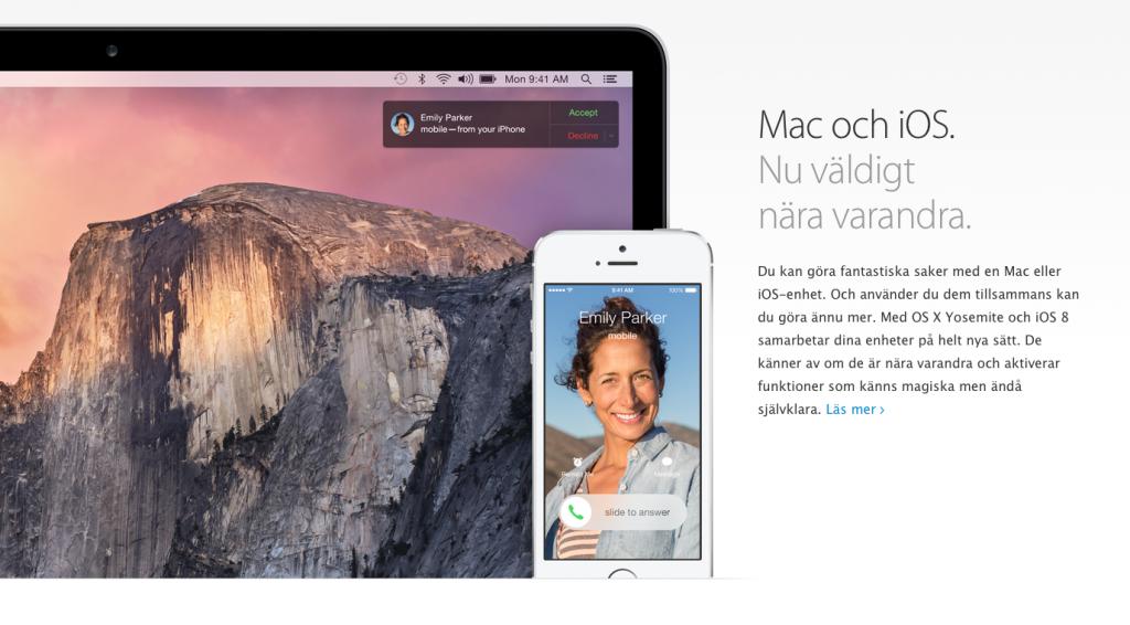 Samarbete iOS &  OS X